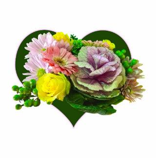 Sweetheart Bouquet Photo Sculpture Button