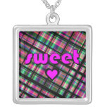 Sweetheart Bright Plaid Necklace