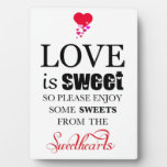 Sweetheart Candy Buffet Display Plaques