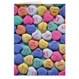 Sweetheart Candy Sayings Valentine's Day Card
