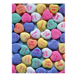 Sweetheart Candy Sayings Valentine's Day Card Postcard