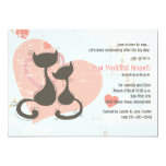 """Sweetheart Cats Invitation 5"""" X 7"""" Invitation Card"""