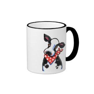 Sweetheart Cow Ringer Mug