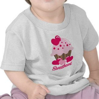 Sweetheart Cupcake Baby Shirt shirt