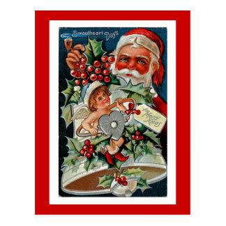 Sweetheart Days Merry Christmas Postcard