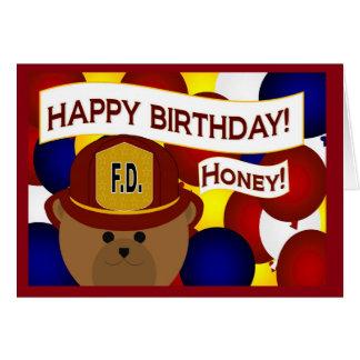 Sweetheart - Happy Birthday Firefighter Hero! Card