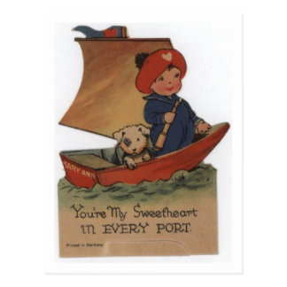 Sweetheart in Every Port Post Card