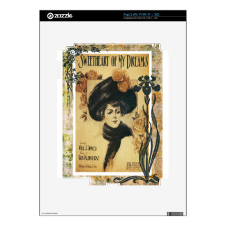 Sweetheart Of My Dreams Vintage Sheet Music Skin For The iPad 2