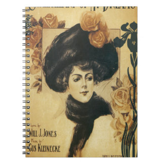 Sweetheart Of My Dreams Vintage Sheet Music Spiral Notebook