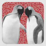 Sweetheart Penguins Square Sticker
