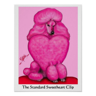 Sweetheart Poodle Poster