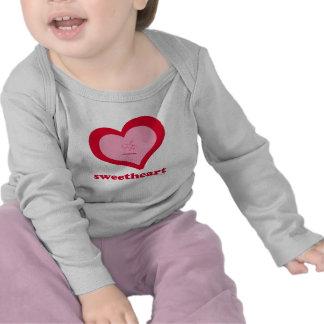 Sweetheart-Saccharin Long-Sleeved Baby Tee Shirt
