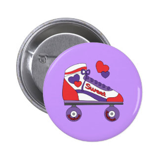 Sweetheart Skate 2 Inch Round Button