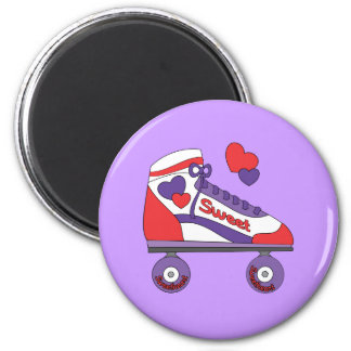 Sweetheart Skate 2 Inch Round Magnet