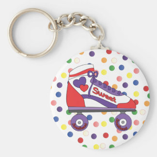 Sweetheart Skate Basic Round Button Keychain