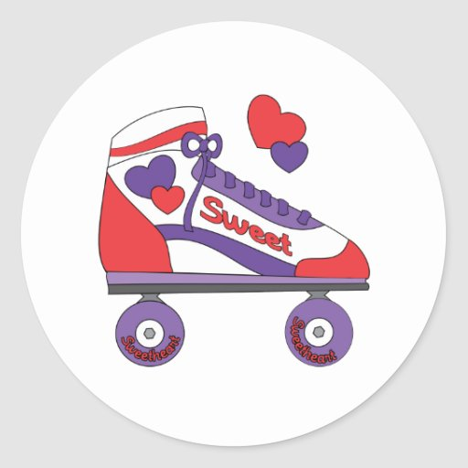 Sweetheart Skate Round Stickers
