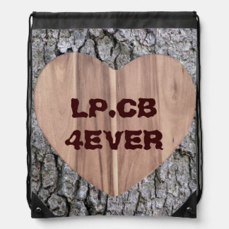 Sweetheart Tree Customizable Drawstring Backpack