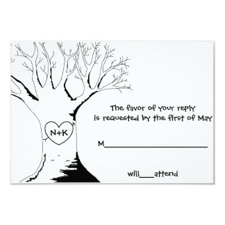 """""""Sweetheart Tree"""" Response/Reply Cards"""