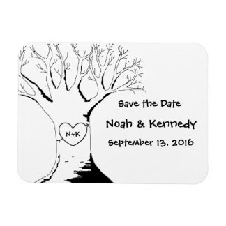 """""""Sweetheart Tree"""" Save the Date Magnets"""