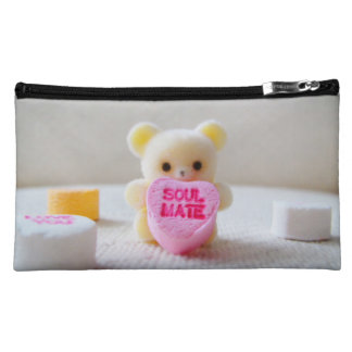 sweetheart valentines day bear pink heart candy cosmetic bag