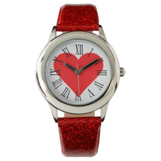 Sweetheart Valentine's Day Red Heart Watch