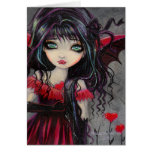 Sweetheart Vampire Fairy Valentine Art Greeting Card
