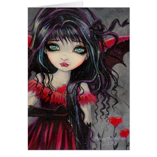 Sweetheart Vampire Fairy Valentine Art Card