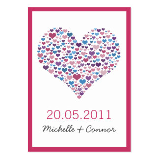 Sweetheart Wedding Place Card Business Card Template