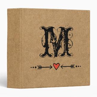 Sweethearts and Arrows Monogram Binder