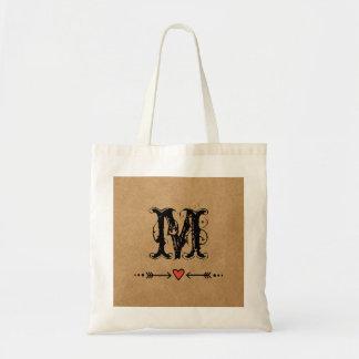 Sweethearts and Arrows Monogram Tote Bag