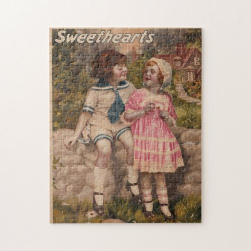 Sweethearts Antique Vintage Puzzle