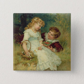 Sweethearts, from the Pears Annual, 1905 Button