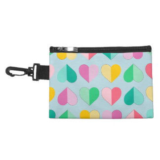 Sweethearts in Multi Pastels on Sky Blue Accessories Bags