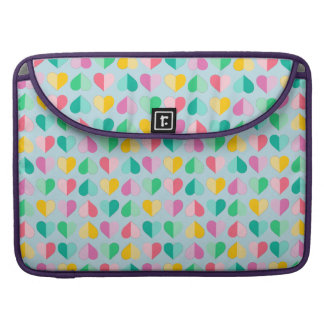 Sweethearts in Multi Pastels on Sky Blue MacBook Pro Sleeve