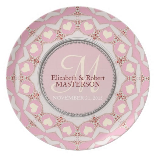 Sweethearts Monogram Keepsake Plate
