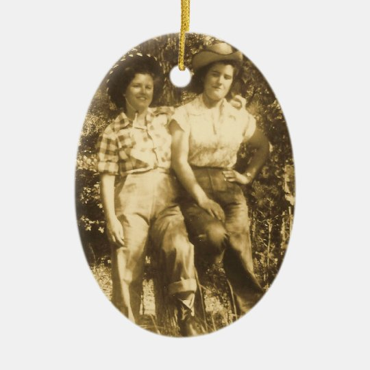 SWEETHEARTS OF THE RODEO ORNAMENT