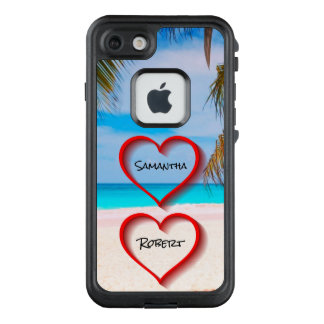 Sweethearts On The Beach - Her & His Names - LifeProof FRĒ iPhone 7 Case