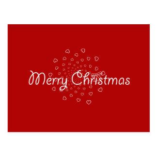 Sweethearts Swirly Merry Christmas Postcard