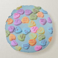 sweethearts valentines day candy pillow
