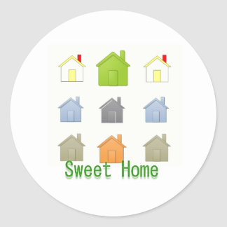 SweetHome House Warming Party Classic Round Sticker