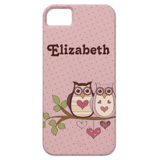 Sweethoots rosado personalizó la caja del iPhone 5 Funda Para iPhone SE/5/5s