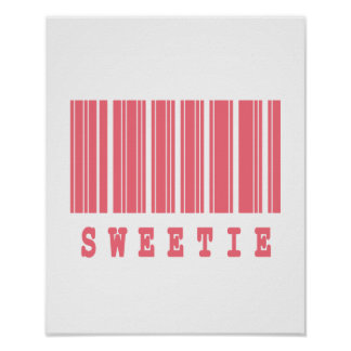 sweetie barcode design poster