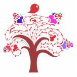 sweetie bird and love tree acrylic cut out