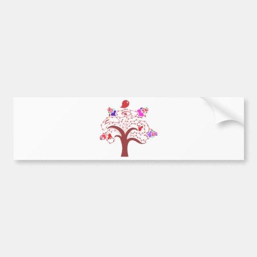 sweetie bird and love tree bumper sticker