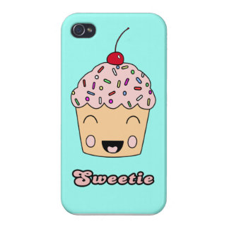 Sweetie Cupcake - Aqua Covers For iPhone 4