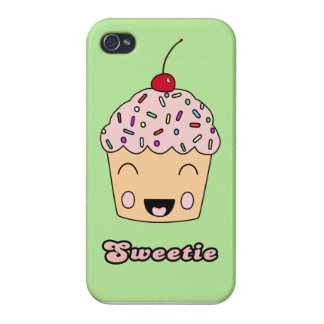 Sweetie Cupcake - Green Cover For iPhone 4