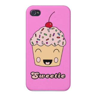 Sweetie Cupcake -  Hot Pink iPhone 4 Covers