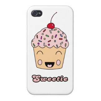 Sweetie Cupcake - White Covers For iPhone 4