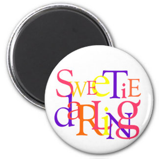 Sweetie Darling 2 Inch Round Magnet