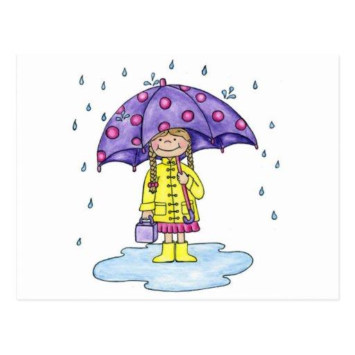 Sweetie del paraguas postales